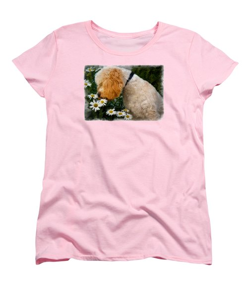 Taking Time To Smell The Flowers Women's T-Shirt (Standard Cut) by Susan Candelario