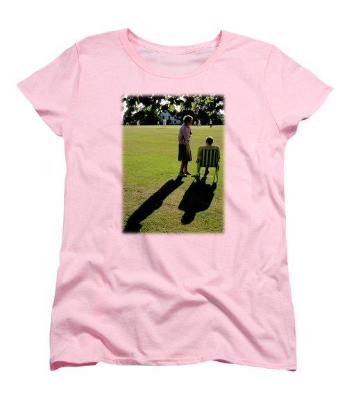 The Cricket Match Women's T-Shirt (Standard Cut) by Jon Delorme