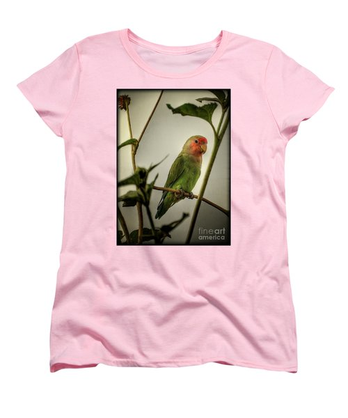 The Lovebird  Women's T-Shirt (Standard Cut) by Saija  Lehtonen