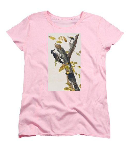 Three Toed Woodpecker Women's T-Shirt (Standard Cut) by John James Audubon