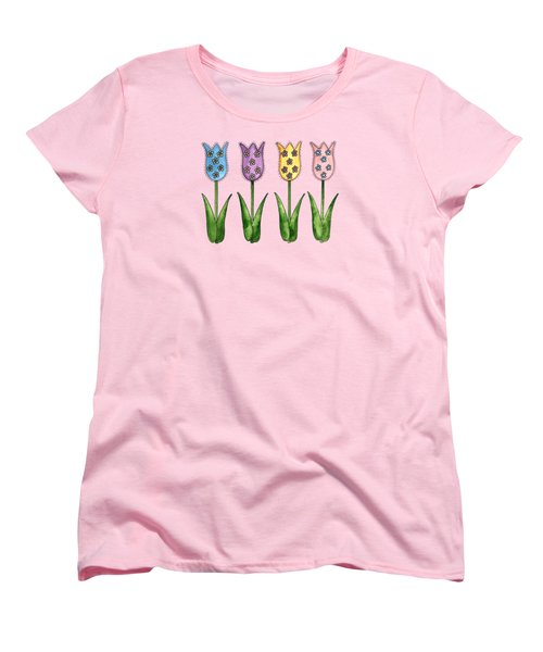 Tulip Row Women's T-Shirt (Standard Cut) by Shelley Wallace Ylst