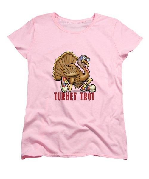 Turkey Trot Women's T-Shirt (Standard Cut) by Kevin Middleton