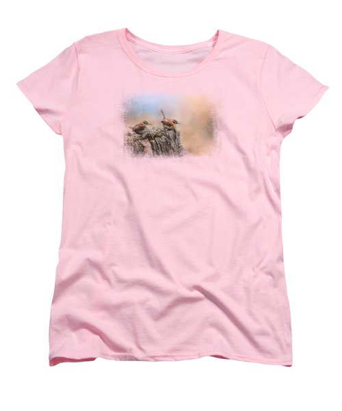 Two Little Wrens Women's T-Shirt (Standard Cut) by Jai Johnson