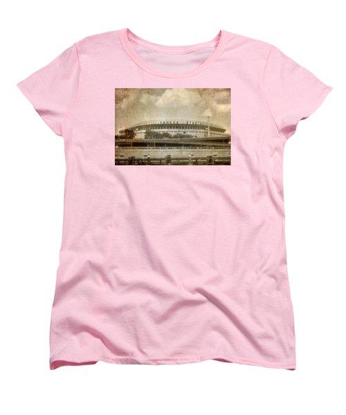 Vintage Old Yankee Stadium Women's T-Shirt (Standard Cut) by Joann Vitali