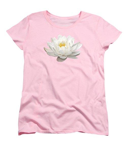Water Lily Whirlpool Women's T-Shirt (Standard Cut) by Gill Billington
