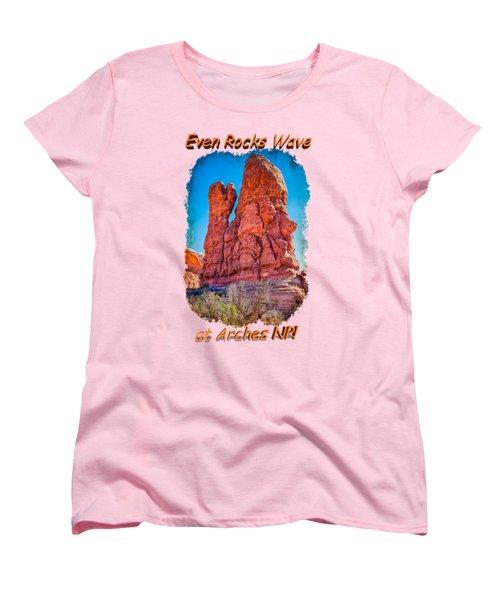 Waving Rock Women's T-Shirt (Standard Cut) by John M Bailey