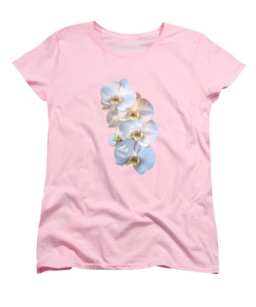 White Orchid Cutout Women's T-Shirt (Standard Cut) by Linda Phelps