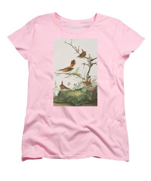 Winter Wren Or Rock Wren Women's T-Shirt (Standard Cut) by John James Audubon