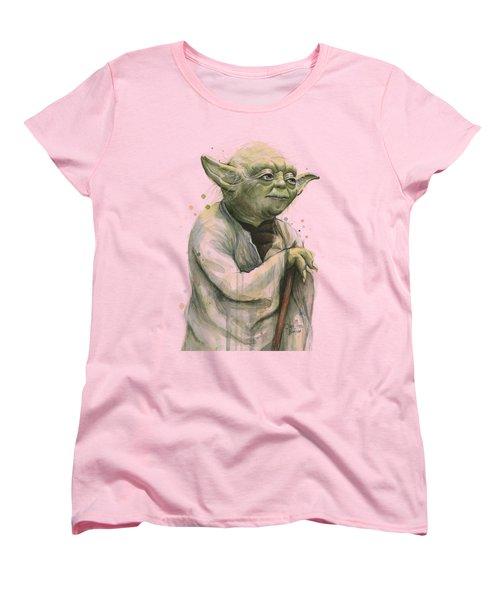 Yoda Portrait Women's T-Shirt (Standard Cut) by Olga Shvartsur