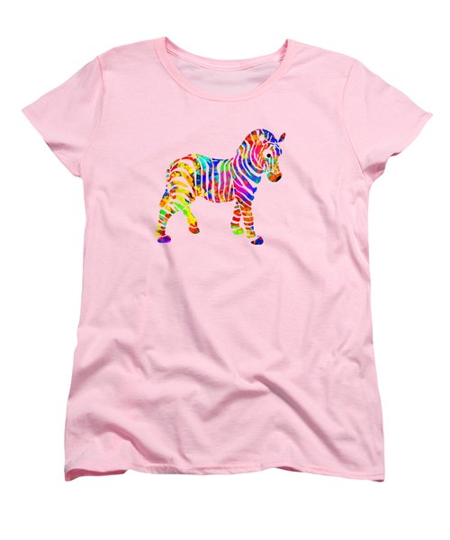 Zebra Women's T-Shirt (Standard Cut) by Christina Rollo