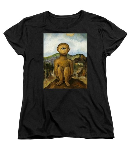 Cyclops Women's T-Shirt (Standard Cut) by Leah Saulnier The Painting Maniac