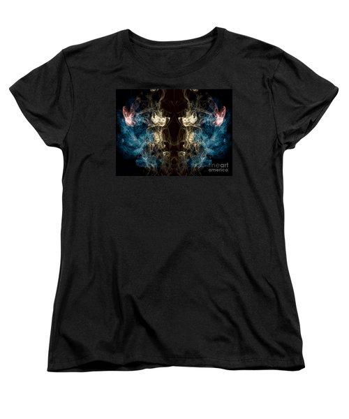 Minotaur Smoke Abstract Women's T-Shirt (Standard Cut) by Edward Fielding