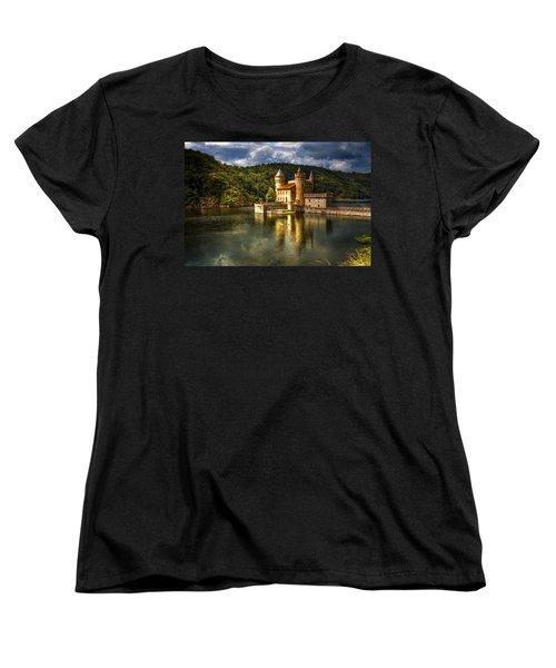 Chateau De La Roche Women's T-Shirt (Standard Cut) by Debra and Dave Vanderlaan