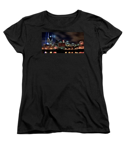 Nashville Panoramic View Women's T-Shirt (Standard Cut) by Frozen in Time Fine Art Photography