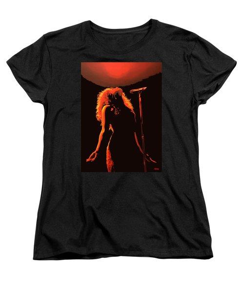 Shakira Women's T-Shirt (Standard Cut) by Paul Meijering