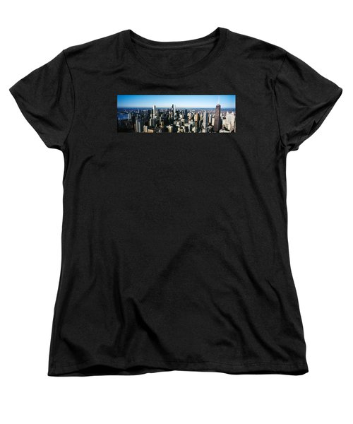 Skyscrapers In A City, Hancock Women's T-Shirt (Standard Cut) by Panoramic Images