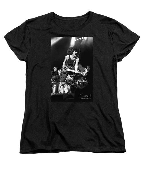 Van Halen - Eddie Van Halen Women's T-Shirt (Standard Cut) by Concert Photos