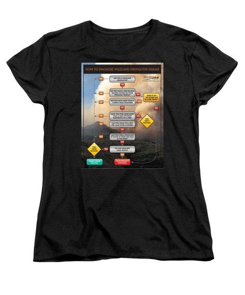 Women's T-Shirt (Standard Cut) featuring the photograph Diagnosing Wildland Firefighter Disease by Bill Gabbert