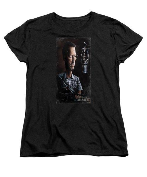 Eric Clapton Women's T-Shirt (Standard Cut) by Andre Koekemoer