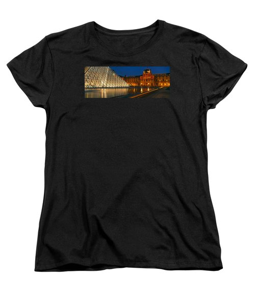 Pyramid At A Museum, Louvre Pyramid Women's T-Shirt (Standard Cut) by Panoramic Images