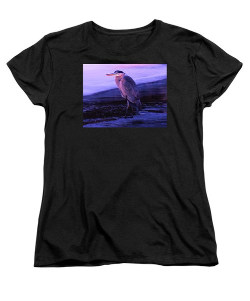 A Heron On The Moyie River Women's T-Shirt (Standard Cut) by Jeff Swan