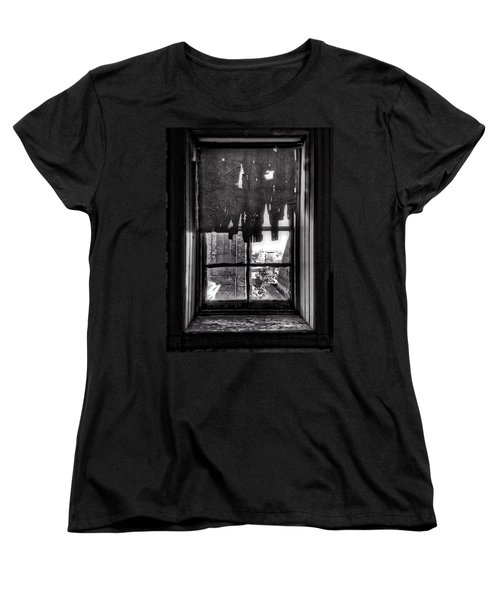 Abandoned Window Women's T-Shirt (Standard Cut) by H James Hoff