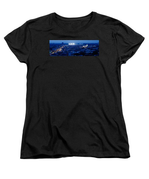 Aerial View Of A City, Wrigley Field Women's T-Shirt (Standard Cut) by Panoramic Images