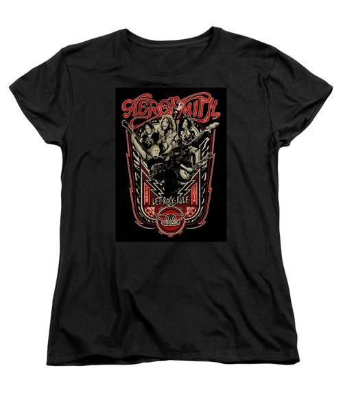 Aerosmith - Let Rock Rule World Tour Women's T-Shirt (Standard Cut) by Epic Rights