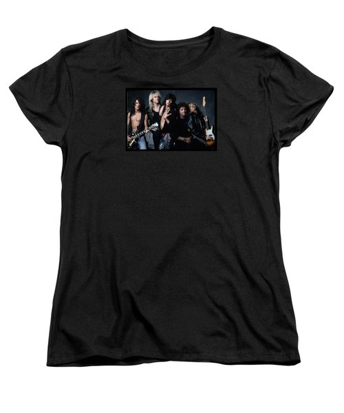 Aerosmith - Let The Music Do The Talking 1980s Women's T-Shirt (Standard Cut) by Epic Rights