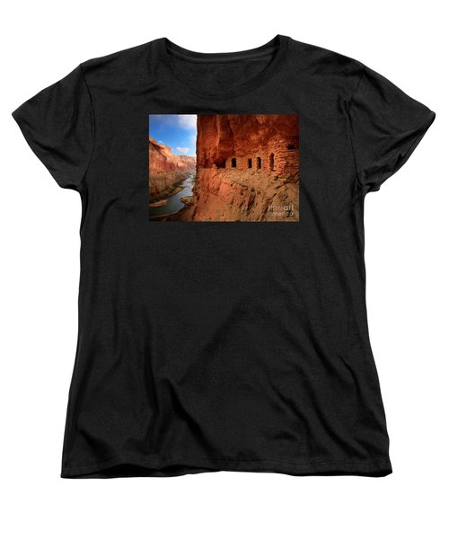 Anasazi Granaries Women's T-Shirt (Standard Cut) by Inge Johnsson
