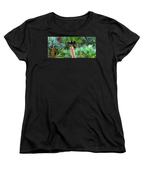 Anhinga Anhinga Anhinga On A Tree Women's T-Shirt (Standard Cut) by Panoramic Images