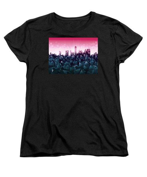Austin Skyline Geometry 2 Women's T-Shirt (Standard Cut) by Bekim Art