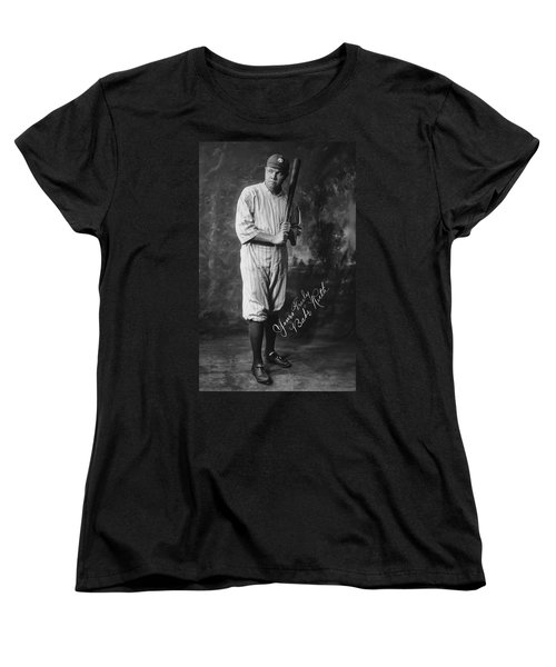 Babe 'the Sultan Of Swat' Ruth  1920 Women's T-Shirt (Standard Cut) by Daniel Hagerman