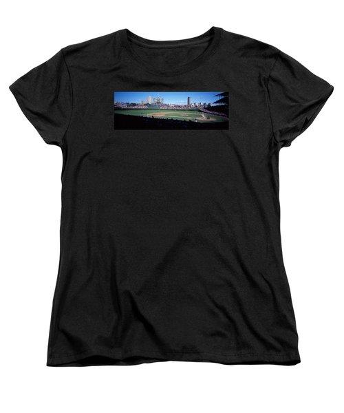 Baseball Match In Progress, Wrigley Women's T-Shirt (Standard Cut) by Panoramic Images