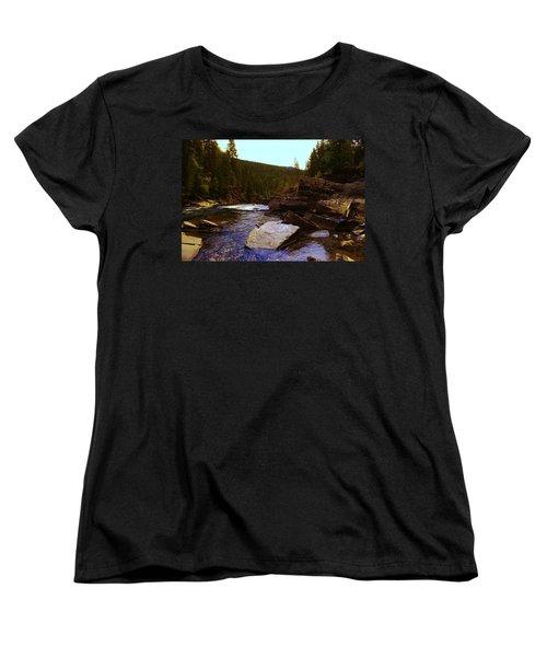 Beautiful Yak River Montana Women's T-Shirt (Standard Cut) by Jeff Swan
