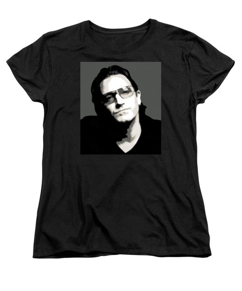 Bono Poster Women's T-Shirt (Standard Cut) by Dan Sproul
