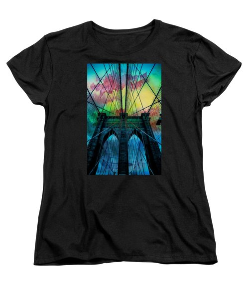 Psychedelic Skies Women's T-Shirt (Standard Cut) by Az Jackson