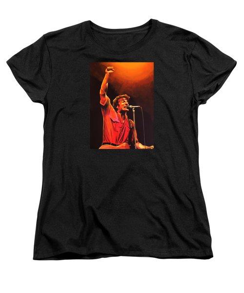 Bruce Springsteen Painting Women's T-Shirt (Standard Cut) by Paul Meijering