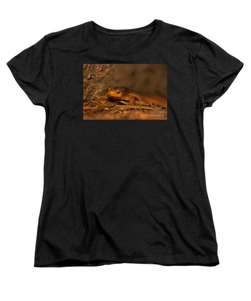 California Newt Women's T-Shirt (Standard Cut) by Ron Sanford