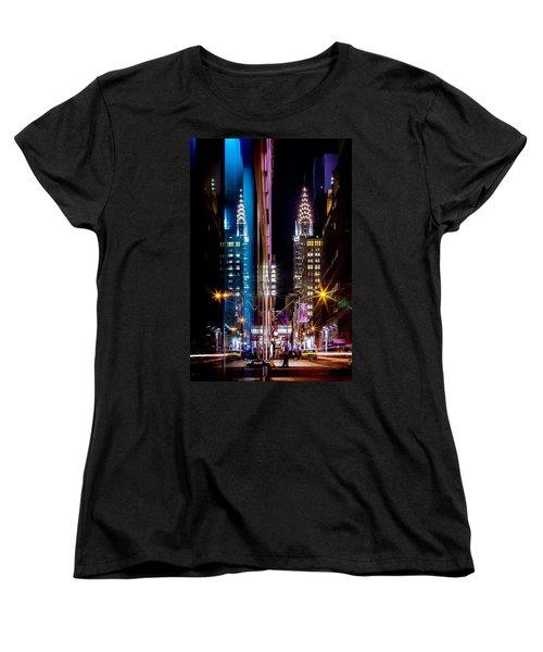 Color Of Manhattan Women's T-Shirt (Standard Cut) by Az Jackson