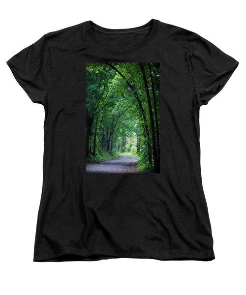 Country Lane Women's T-Shirt (Standard Cut) by Cricket Hackmann