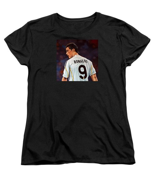 Cristiano Ronaldo Women's T-Shirt (Standard Cut) by Paul Meijering