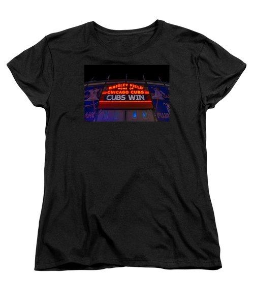 Cubs Win Women's T-Shirt (Standard Cut) by Steve Gadomski