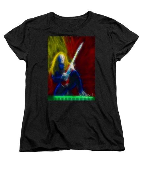 Def Leppard-adrenalize-ga5-vivian-fractal Women's T-Shirt (Standard Cut) by Gary Gingrich Galleries