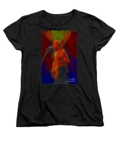 Def Leppard-adrenalize-gb13-phil-fractal Women's T-Shirt (Standard Cut) by Gary Gingrich Galleries