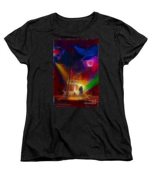Def Leppard-adrenalize-gf10-fractal Women's T-Shirt (Standard Cut) by Gary Gingrich Galleries