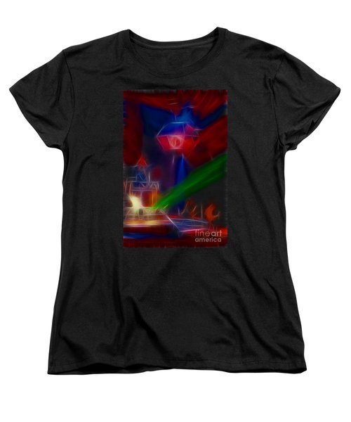 Def Leppard-adrenalize-gf12-fractal Women's T-Shirt (Standard Cut) by Gary Gingrich Galleries