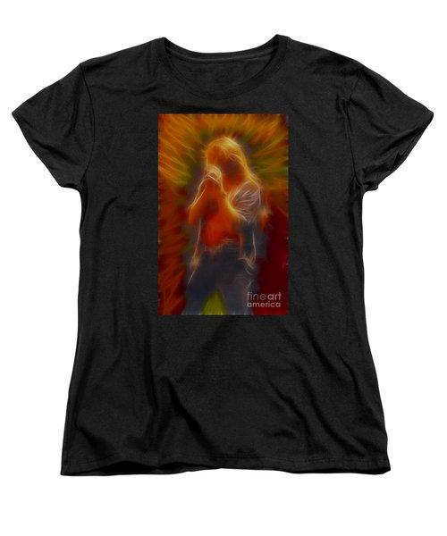 Def Leppard-adrenalize-joe-gb20-fractal Women's T-Shirt (Standard Cut) by Gary Gingrich Galleries