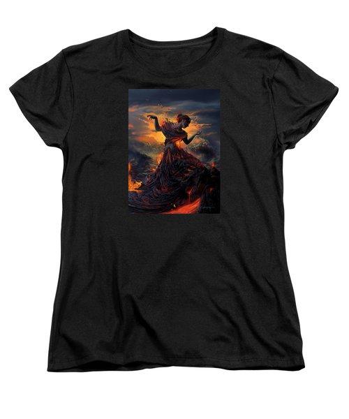 Elements - Fire Women's T-Shirt (Standard Cut) by Cassiopeia Art