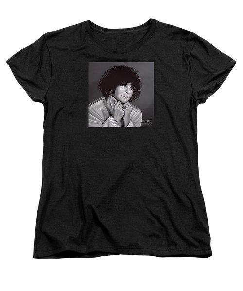 Elizabeth Taylor Women's T-Shirt (Standard Cut) by Paul Meijering